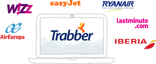 Aerolíneas y agencias proveedoras de Trabber